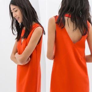 Zara Triangle Cit Out Shift Dress Sleeveless Bold